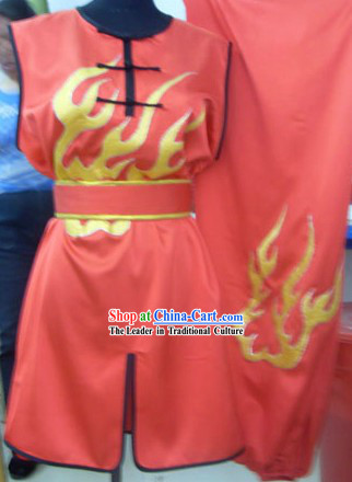 Chinese Red Silk Nanquan Competition Uniform