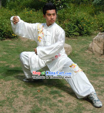 Traditional Chinese Silk Dragon Kung Fu Suit