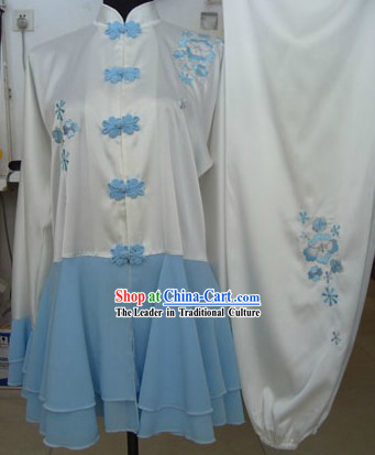 Chinese Silk Kung Fu Skirt Competition Uniform
