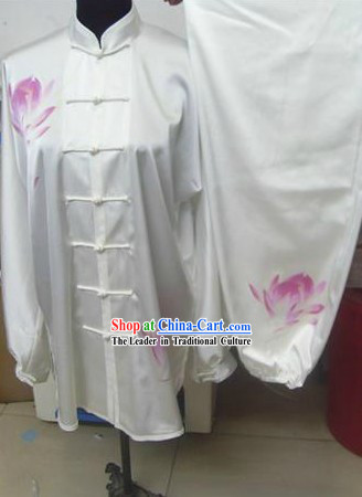 Chinese Lotus Silk Kung Fu Costumes Set