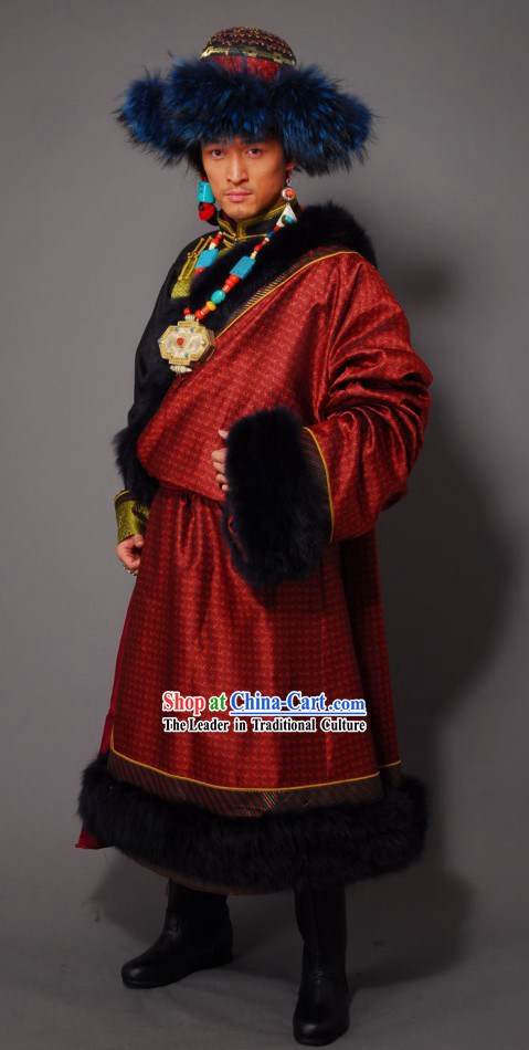 Traditional Chinese Tibetan Men Clothing