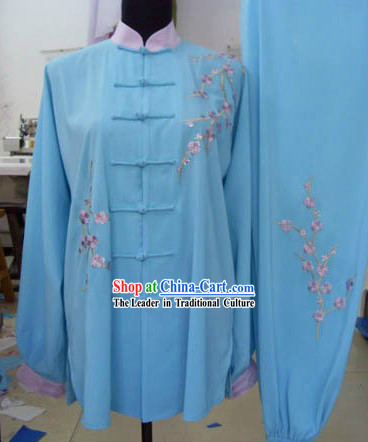 Traditional Chinese Silk Embroidered Tai Chi Suit