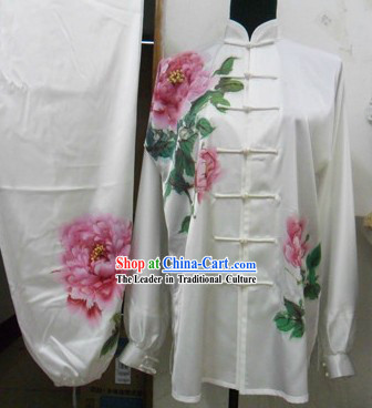 Traditional Chinese Silk Peony Tai Chi Uniform