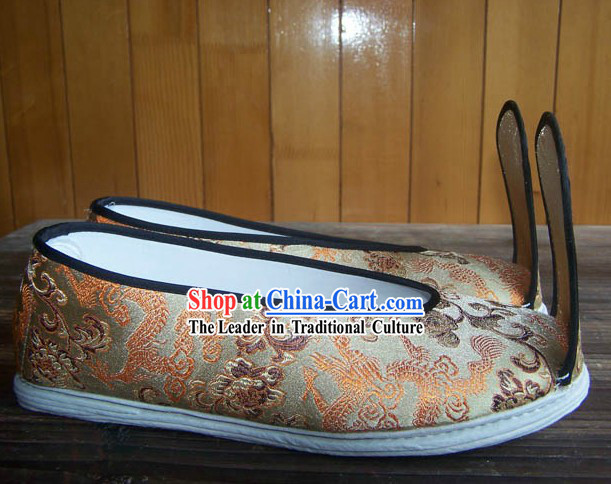 Ancient Chinese Hanfu Brocade Shoes for Women