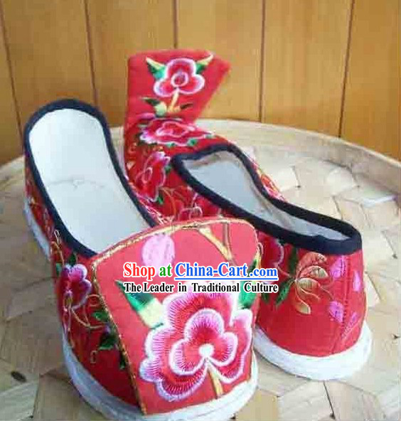 Ancient Chinese Handmade Hanfu Wedding Shoes for Women