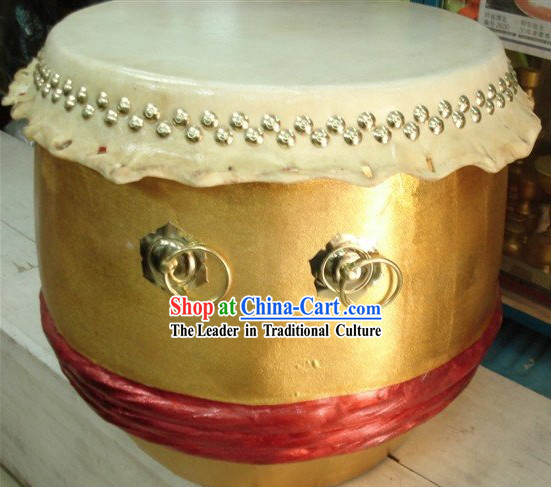 Traditional Golden Lion Dance Drum