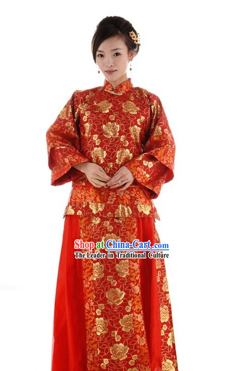 ancient chinese wedding dress for brides