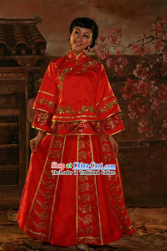 Chinese Classical Wedding Dress for Women
