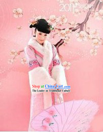 Ancient Chinese Princess Winter Clothing for Women