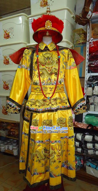 Qing Emperor Dragon Costumes Complete Set