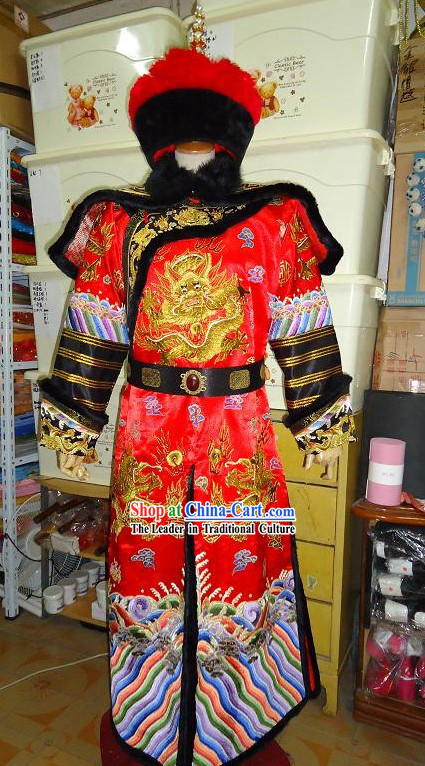Ancient Chinese Emperor Wedding Dress Complete Set