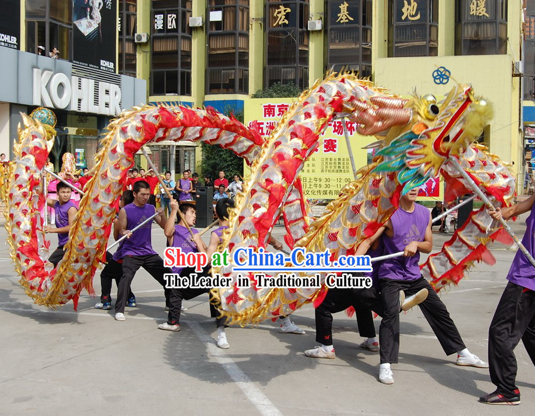 Classical Net Dragon Dance Costumes Complete Set