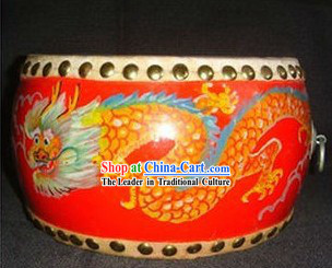 Chinese Hand Painted Dragon Drum