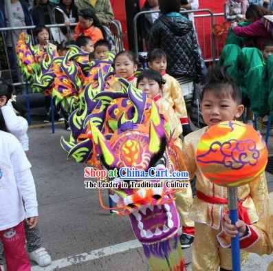 Fluorescent Glow in Dark Dragon Dance Equipment for Kids