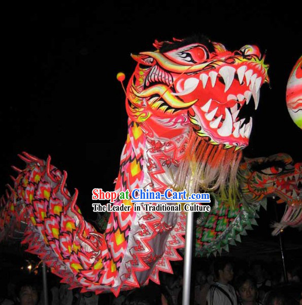 Adult Size Glowing in Dark Dragon Dance Costume Complete Set