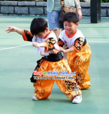 Traditional Chinese Lion Dancer and Dragon Dancer Uniforms for Kids