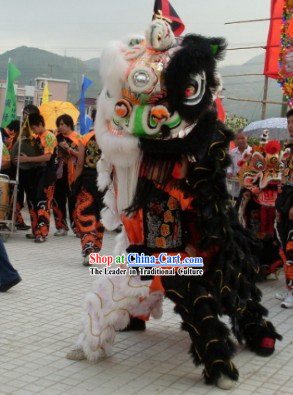Unique Double Colors Lion Dance Costumes