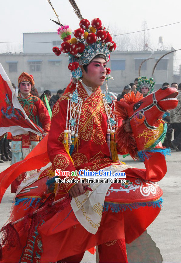 Chinese Horse Year Parade Costumes Complete Set
