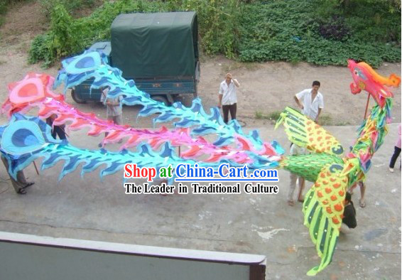 Chinese Spring Festival Celebration Phoenix Dance Costumes Complete Set