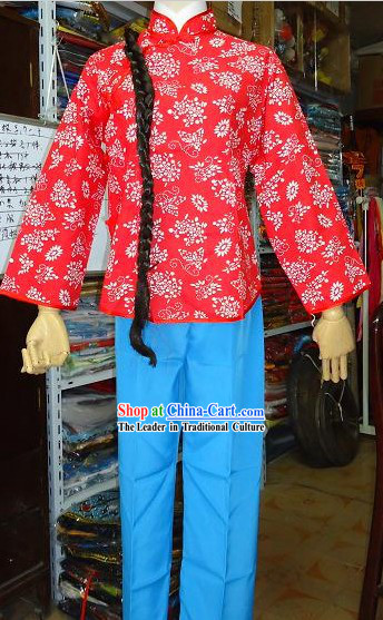 Chinese Drama The Red Lantern Li Tiemei Costumes and Wig