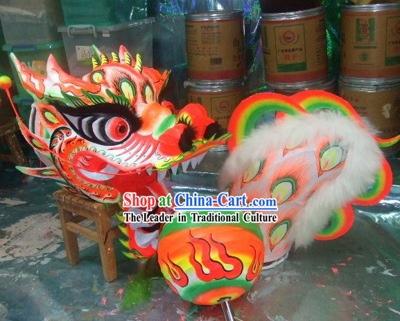 Luminous Phoenix Pattern Dragon Dance Equipment Complete Set