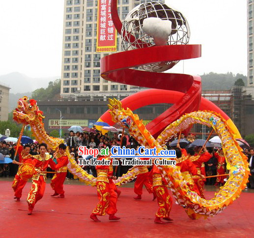 Peking Olympic Games Dragon Dancing Costume Complete Set