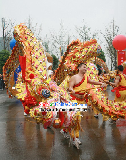 Traditional China National Dragon Dance Costumes Complete Set