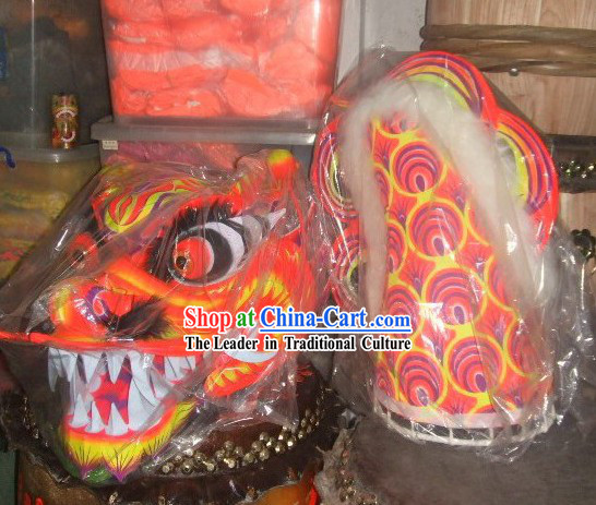 Fish Pattern Luminescent Dragon Dance Costume Complete Set