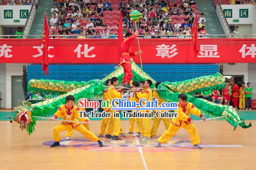 Shinning Green Dragon Dance Costume Complete Set