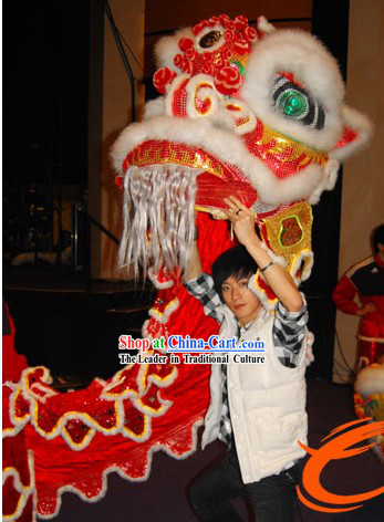 Opening Ceremony and Lunar New Year Parade Red Lion Dance Costumes Complete Set for Kids