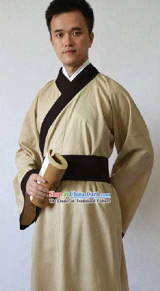 Ancient Chinese Student Hanfu Costume for Men