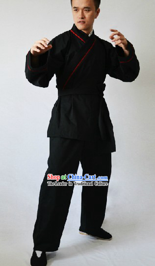 Traditional Chinese Black Kung Fu Suit for Men