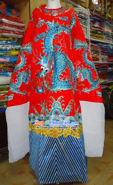 Beijing Opera Embroidered Dragon Costumes Complete Set for Men