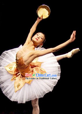 Chinese Classical Tutu Ballet Dance Costumes for Women