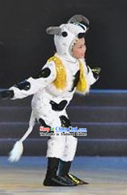 Chinese Cow Dance Costumes for Kids