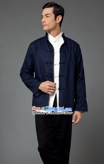 Bruce Lee Mandarin Style Kung Fu Practice and Performance Uniform for Men