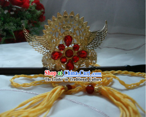 Ancient Chinese Style Handmade King Crown