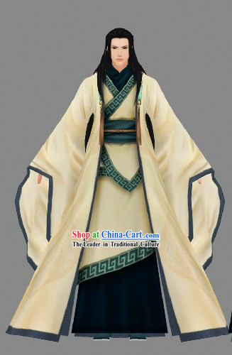 Chinese Classic Han Fu Clothing Complete Set for Men