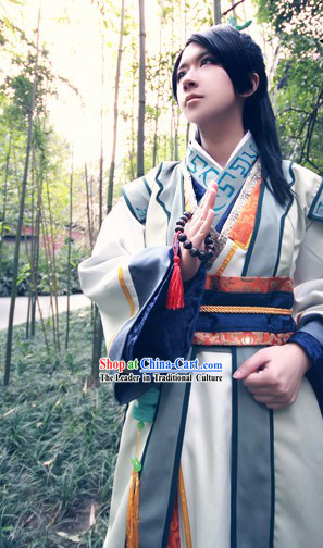 Ancient Chinese Fang Lansheng Costume Complete Set for Men