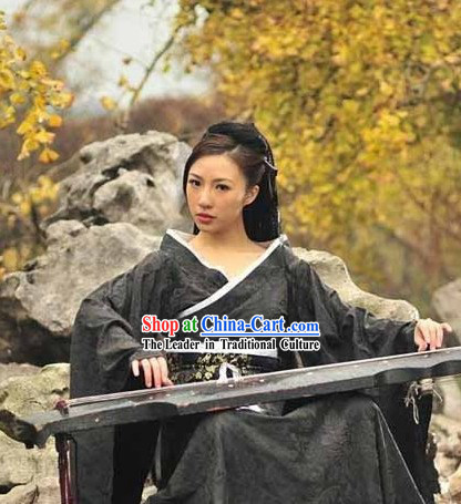 Ancient Chinese World Empress Black Clothes