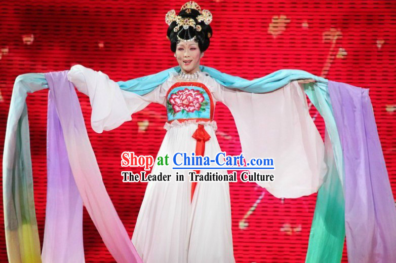 Tang Dynasty Long Ribbon Dance Costumes for Women
