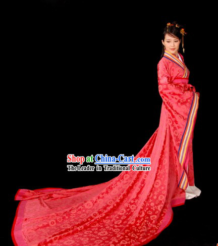 Ancient Chinese Clasic Wedding Dress Complete Set for Brides