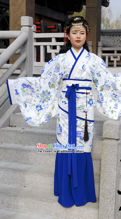 Ancient Chinese Princess Fish Tail Robe for Women
