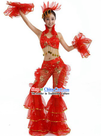 Chinese Red Dancing Costume for Women