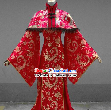 Chinese Classical Red Female Wedding Dress