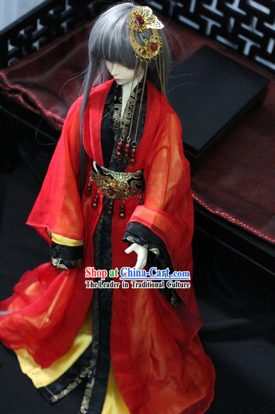Ancient Chinese Red Wedding Dress for Men