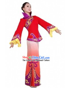 Chinese Han Ethnic Handkerchief Dancing Costume for Women