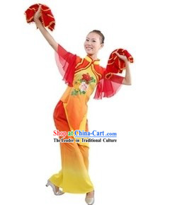 Chinese Han Ethnic Fan Dancing Costume for Women
