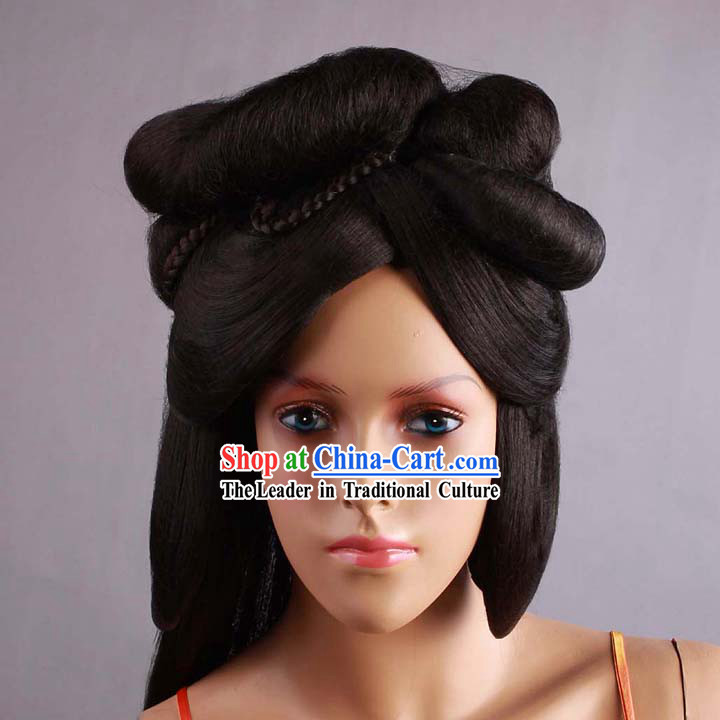 Ancient Chinese Tang Dynasty Palace Style Wig