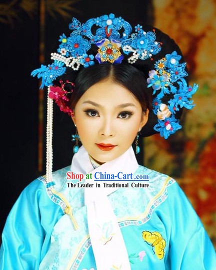 Ancient Chinese Palace Blue Hair Accessories